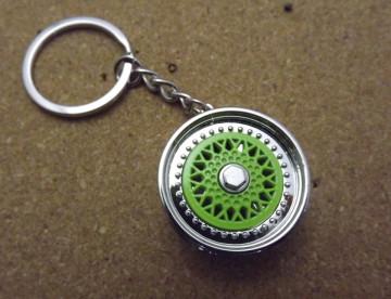 Porta Chaves - Jante Tipo BBS - Cromada e Verde