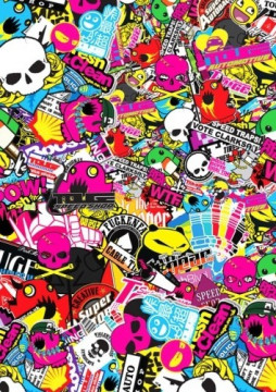 Sticker Bomb - Cartoons 5 - 15x22cm