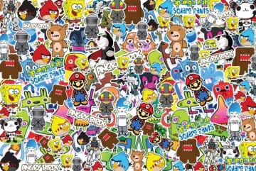Sticker Bomb - Cartoons 5 - 24x35cm
