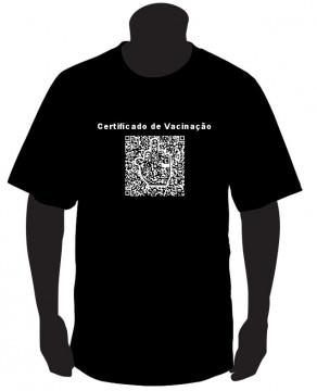 T-shirt - Certificado de Vacinação
