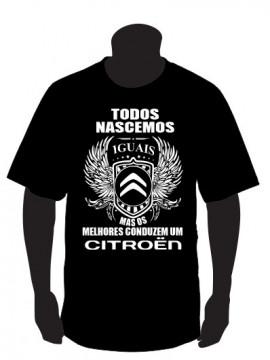 T-shirt com Todos Nascemos Iguais (Citroen)