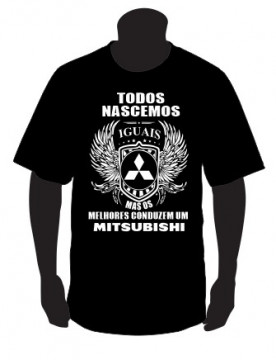 T-shirt com Todos Nascemos Iguais (Mitsubishi)