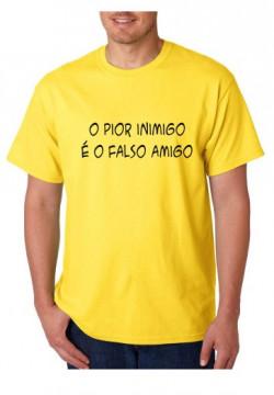 T-shirt  - O Pior Inimigo é o falso Amigo