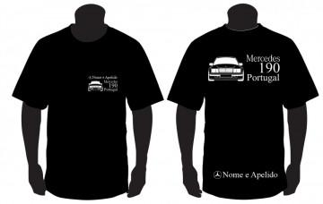 T-shirt para Mercedes 190 Portugal + nome
