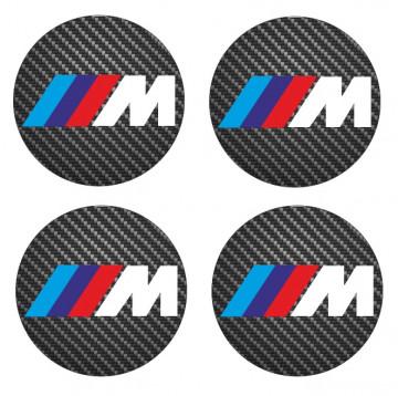 4 Autocolantes Para Centros de Jantes com BMW ///M