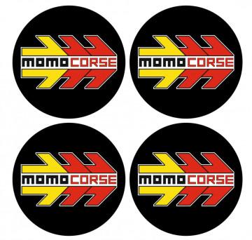 4 Autocolantes Para Centros de Jantes com Momo Corse