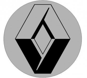 4 Autocolantes Para Centros de Jantes para Renault