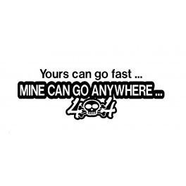Autocolante - 4x4 Can Go Anywhere