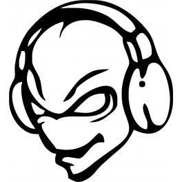 Autocolante - Alien DJ