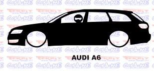 Autocolante - Audi A6 Carrinha Com Stig