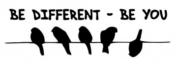 Autocolante -  Be different - Be you