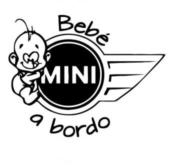 Autocolante - Bebé a bordo para Mini