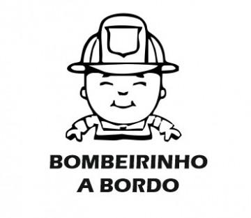 Autocolante - Bombeirinho a Bordo