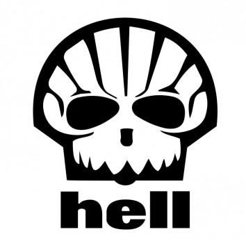 Autocolante com Hell