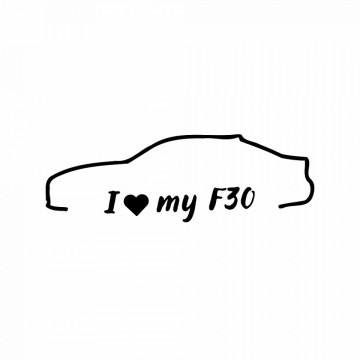Autocolante com I love my Bmw F30