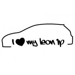 Autocolante com I Love my leon 1P