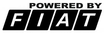 Autocolante com Powered by Fiat