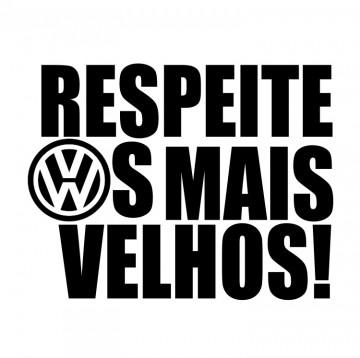 Autocolante com Respeite os mais Velhos VW