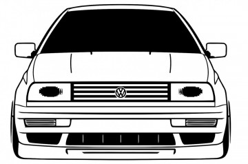 Autocolante com Volkswagen Jetta