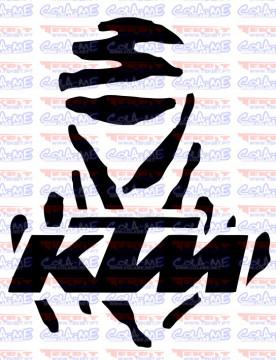 Autocolante - Dakar KTM