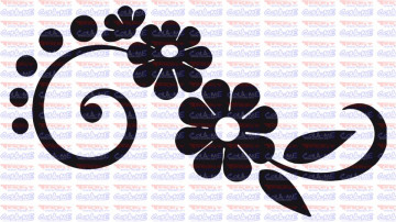 Autocolante - Flores