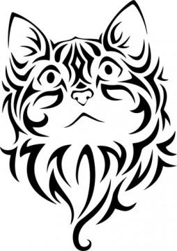 Autocolante - Gato tribal