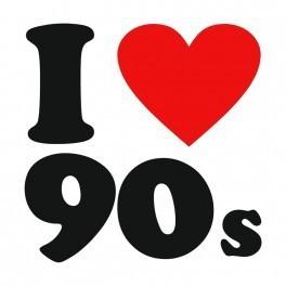 Autocolante - I Love 90's