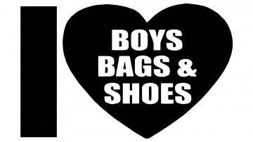 Autocolante - I love boys bags and shoes