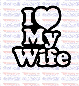 Autocolante - I Love my wife