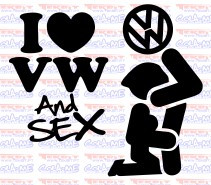 Autocolante - I LOVE VW AND SEX