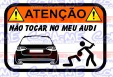 Autocolante Impresso - Não tocar no meu Audi A4 B8 Avant