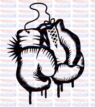 Autocolante - Luvas de Boxe