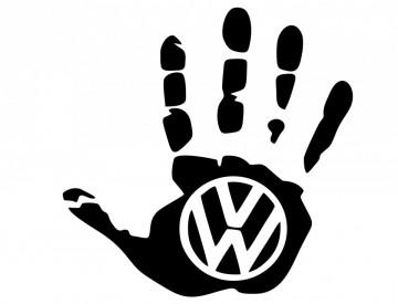 Autocolante Mão para Volkswagen