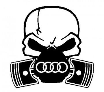 Autocolante - Máscara  de Gás AUDI 2