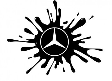 Autocolante - Mercedes Splash