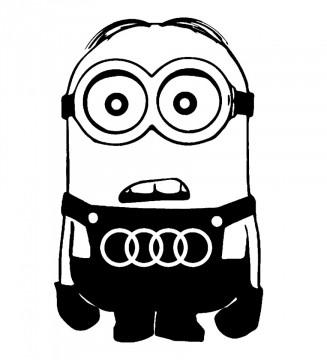 Autocolante - Minion Audi