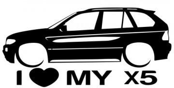 Autocolante para I love BMW X5