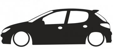 Autocolante para Peugeot 206 5 portas