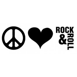 Autocolante - Paz Amor e Rock And Roll