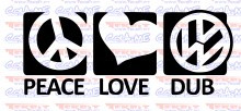 Autocolante - Peace Love DUB