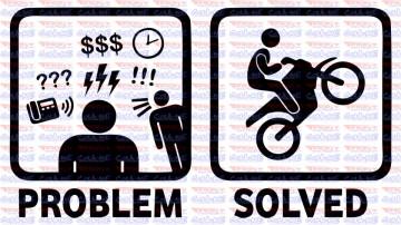 Autocolante - Problem solved bike