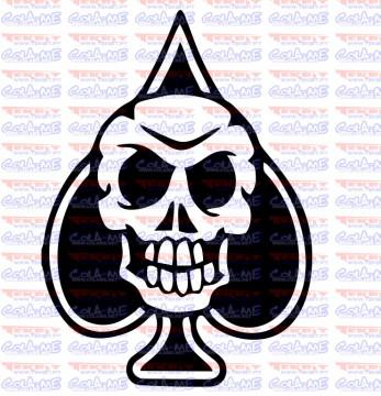 Autocolante - Skull Lucky