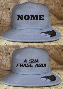 Boné - Modelo pala recta / CAP - NOME / FRASE