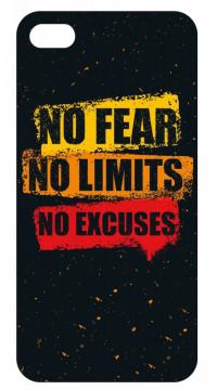 Capa de telemóvel com No Fear No Limits No Excuses