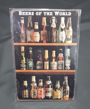 Chapa decorativa com Beers of the world