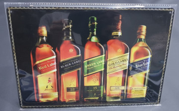 Chapa decorativa com Johnnie walker.