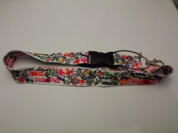 Fita Porta Chaves com Sticker Bomb Padrão 5
