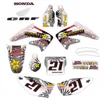 Kit Autocolantes Para Honda CRF 450 02-04