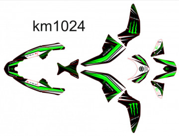 Kit Autocolantes Para Kawasak Z750 2007-2012