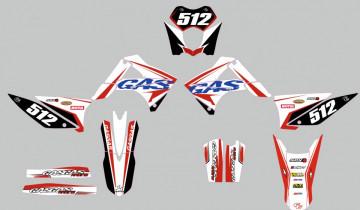 Kit Autocolantes Para Moto - Gas Gas MX 10-11